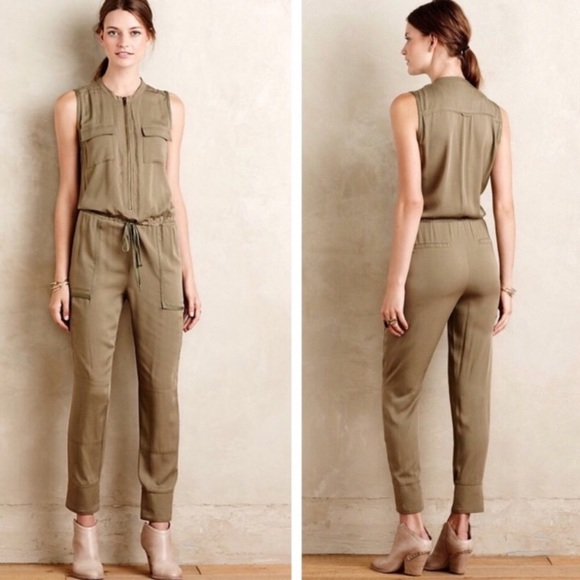 2141730f2f1f Anthropologie Pants - Anthropologie Elevenses Olive Green Jumpsuit Sz XS